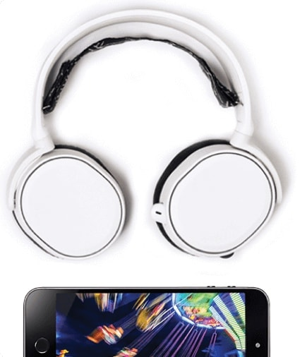 Headphones with mobile phone