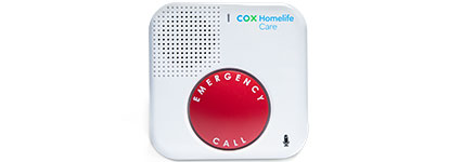 Homelife care voice enabled device with emergency call button