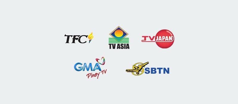 International channel logos
