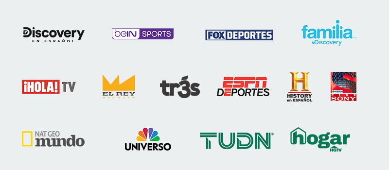 Latino pak channels including bein Sports, Discovery in Espanol, familia Discovery, Disney XD and El Rey