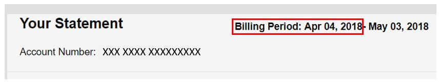 Cox billing statement install date example
