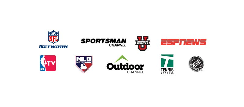 Sports and TV Package channel logos