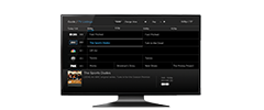Support - TV with Cox Contour TV schedule on screen representing view TV schedule
